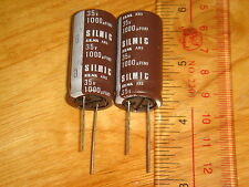 2 PIECES ELNA SILMIC 1000uF 35V FOR AUDIO ELECTROLYTIC CAPACITOR