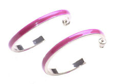 Eye Catching,Funky Fun & Edgy Fuchsia Pink Stud Style round Ear Hoops(A23/zx76)