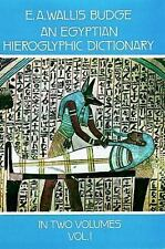 An Egyptian Hieroglyphic Dictionary : With an Index of English Words, King List,
