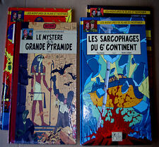 LOT EO ALBUM BD PYRAMIDE / SARCOPHAGES / AFFAIRE FRANCIS BLAKE / MORTIMER