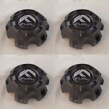 Fuel Black Custom Wheel Center Caps Set of 4 # CAP M-447 ST-MQ804-150 With Bolts