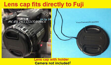 FRONT SNAP-ON LENS CAP DIRECTLY TO CAMERA FUJI S4830 HD S4830HD FINEPIX+HOLDER