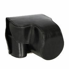 New Leather Case Bag Cover Protector for Panasonic Lumix FZ200 Black Fixed Lens