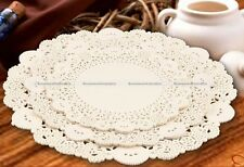 """30pcs 7.5/8.5/9.5"""" Paper Party Doilies Doily Lace Doyleys Catering Wedding Round"""
