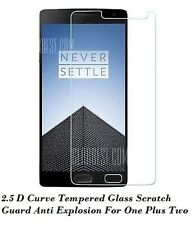 Tempered Glass 2.5 D Scratch Guard Anti Explosion For One Plus Two ( 1+2 )