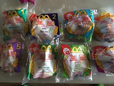 1999 McDonald's Winnie the Pooh toys complete set of 8 MIP Happy Meal new sealed