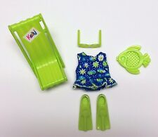Barbie Kelly Doll Clothes Bathing Suit Swim Fins Beach accessories Fashion Ave