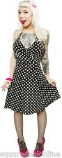 130100 Black White Polka Dot Sweetheart Swing Dress Sourpuss 1950s Retro XL