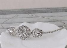 Crystal HeadBand Rhinestone Wedding Hair piece Diamante Bridal Accessories 1 PC