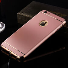 Shockproof Hybrid 3 IN 1 Plating  Hard Case Cover For iPhone 5s 6 & 6s Plus  SE