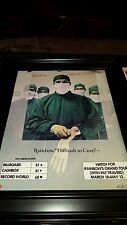 Rainbow Difficult To Cure Rare Original Promo Poster Ad Framed!