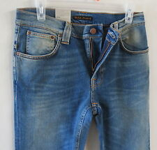 Nudie Men Jean 33 W x 34 Thin Finn Stretch Flood Italy! Brand New with Tags