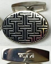 TUMI トゥミ Signature Cuff Links Men Gentlemen Business Handsome Holiday Gift Black
