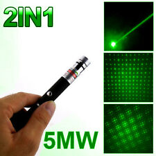 5mw 532nm Lazer Visible Beam Light Powerful 2in1 Green Laser Pointer Pen Power