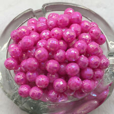 150pcs 6mm Acrylic DIY Earth beads cut Faceted Rose ab round beads Jewelry
