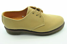 Dr Doc Martens taille 9/43 tan brun clair cagney hommes chaussures 5 trous lacets twill