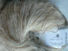2 x 50g Decorative Kid Mohair Ply Yarn, White/Beige/Brown. Knit/Crochet/Weave