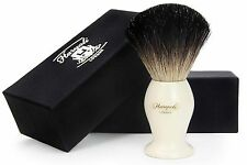 100% BLACK BADGER HAIR MEN'S SHAVING BRUSH IN WHITE. GOOD FOR ALL KIND OF SHAVE.
