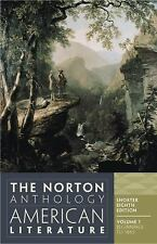 The Norton Anthology of American Literature, Vol. 1 Shorter Eighth Edition)