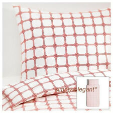 IKEA Lisel Duvet Quilt Cover Pillowcases Twin Full Double Queen White Red Blue