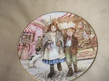 Élégant doré affichage assiette royal worcester noël 1989 forains magic