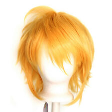 13'' Shaggy Messy w/ Long Bangs Golden Blonde Visual Kei Cosplay Wig NEW