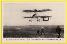 cpa Belle Carte REIMS en 1909 AVIATION PILOTE H. FARMAN sur BIPLAN Avion