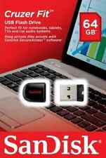 New 64GB Mini Cruzer Fit CZ33 Micro USB 2.0 Flash Drives Pen Drives Thumb Drive
