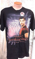Twilight Breaking Dawn Jacob Wolf Black T-Shirt- Size MED- FREE S&H (TWTS-003)