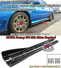 CS-Style Add-on Side Skirts Fits 04-07 Subaru Impreza STi