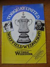 29/01/1983 Torquay United V Sheffield Wednesday FA Cup [] (leggero pieghevole & MARKI