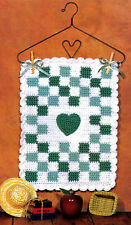COUNTRY Mini-Quilt Wall Hanging/Decor/Crochet Pattern INSTRUCTIONS ONLY