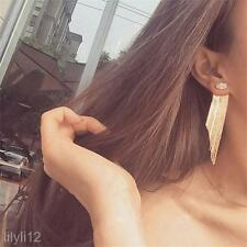 2016 Trendy Fashion Women Gold Tassel Long Earrings Statement Party Jewelry Gift