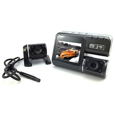 140°HD Car DVR Dual Lens Camera Video Recorder Night Vision G-sensor 1080P TFT
