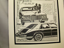1980 Cadillac Seville   Auto Pen Ink Hand Drawn  Poster Automotive Museum
