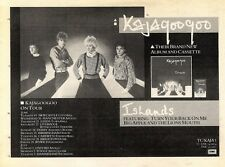 "Scheck9P26 Album & Tour Advert 7x10"" Kajagoogoo : islands"