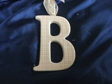AMSCAN Ceramic Baby Wall Letter B Light Pink Different Designs 449061