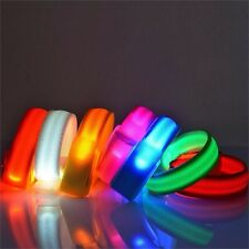Light Up Glow In The Dark Flashing LED Light Bracelet Disco Party Bike Blue