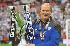 PRESTON: SIMON GRAYSON SIGNED 6x4 PLAY-OFF TROPHY CELEBRATION PHOTO+COA