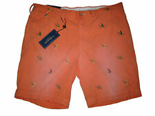 Ralph Lauren Polo Orange Fly Fishing Tackle Chino Outdoorsman Shorts Pants 34