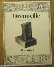 PUBLICITE GRENOVILLE PARFUM BYZANCE 1926 FRENCH ADVERT PERFUME