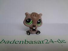 Littlest Pet Shop  LPS, Beaver, Biber, Green Eyes, Hasbro (41)