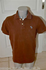 joli polo marron ABERCROMBIE & FITCH muscle taille XL  ** EXCELLENT ÉTAT **