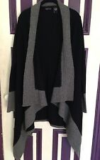 EUC Victoria's Secret Famous Catalog Moda Black & Gray Wool Sweater Coat XS