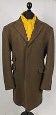 Mens Hand Tailored Coat Brown 44/46 Large EXCEPTIONAL QUALITY GARMENT 223