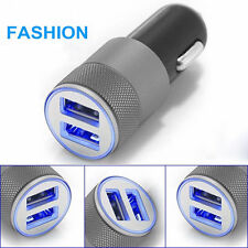 12V Mini Dual USB Twin Port Universal In Car Lighter Socket Charger Cradles 2.4A