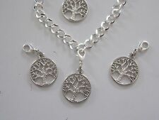 TREE OF LIFE silver tone charm clip on dangle lobster clasp for charm bracelets