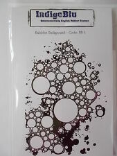 Bulles background-accrocher mounted rubber stamp indigoblu
