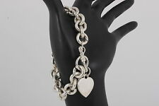 COSTUME DANGLY HEART CHAIN LINK BRACELET FASHION 7711