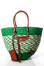 Balenciaga Green Panier Basket Tote Handbag